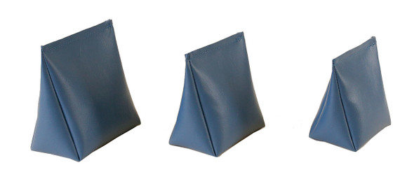 Wedge Rice Bag with Denim Blue Vinyl