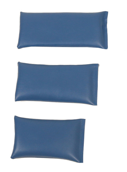 Rectangular Rice Bag with Denim Blue Vinyl