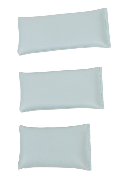 Rectangular Rice Bag with Light Blue Vinyl