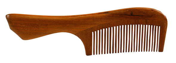 Wooden Comb with Smooth Handle