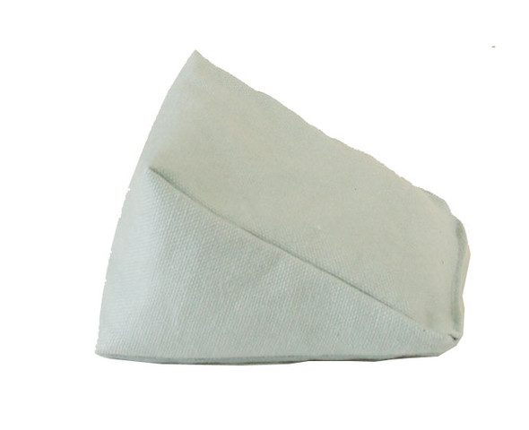 Wedge Rice Bag with Light Blue Cotton Fabric
