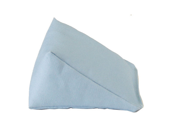 Wedge Rice Bag with Ice Blue Organic Cotton Fabric