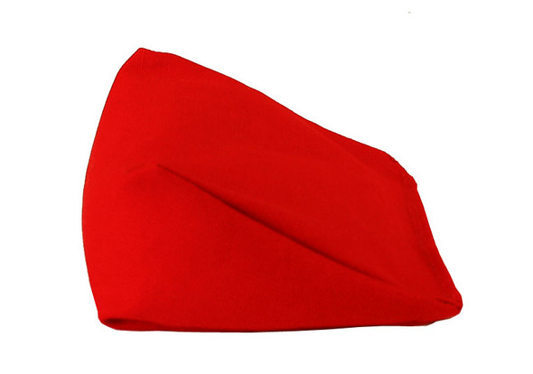 Wedge Rice Bag with Red Organic Cotton Fabric