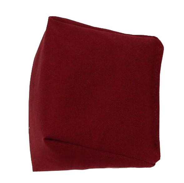 Wedge Rice Bag with Wine Organic Cotton Fabric