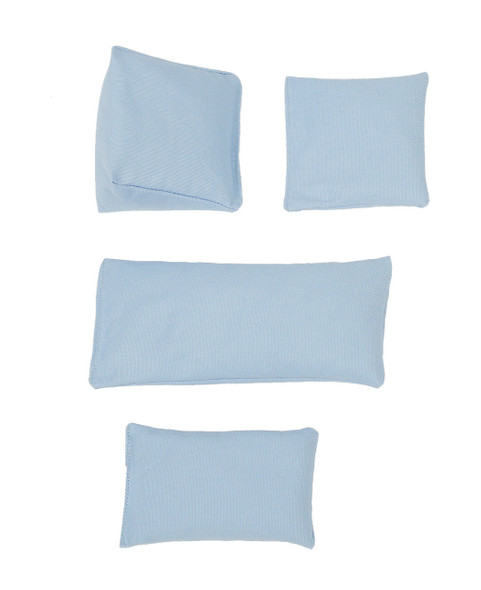 Rectangular Rice Bag with Ice Blue Cotton Fabric