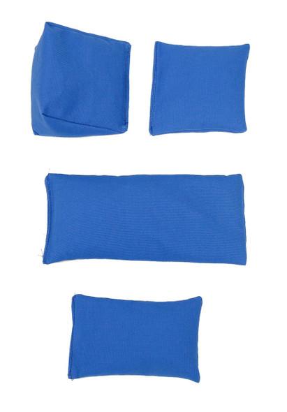 Rectangular Rice Bag with Royal Blue Organic Cotton Fabric