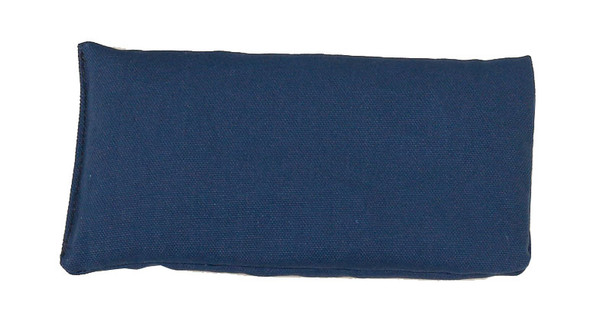 Rectangular Rice Bag with Navy Blue Organic Cotton Fabric