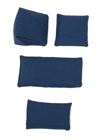 Rectangular Rice Bag with Navy Blue Organic Cotton Fabric
