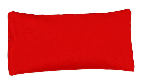 Rectangular Rice Bag with Red Organic Cotton Fabric