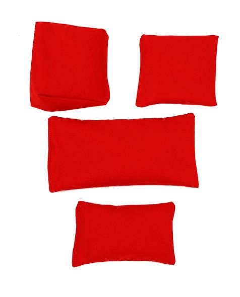 Rectangular Rice Bag with Red Organic Cotton Fabric