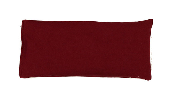 Rectangular Rice Bag with Wine Organic Cotton Fabric