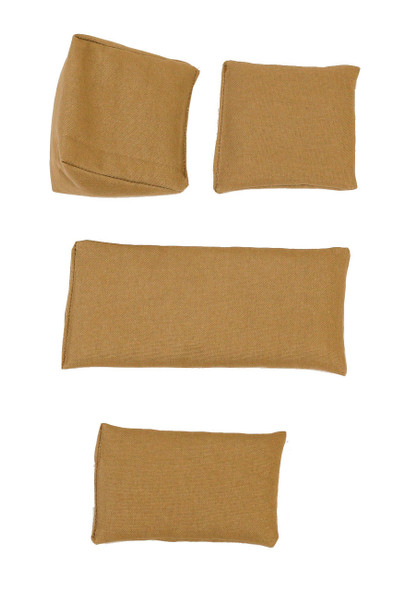 Khaki Square Rice Bag in Organic Cotton Fabric