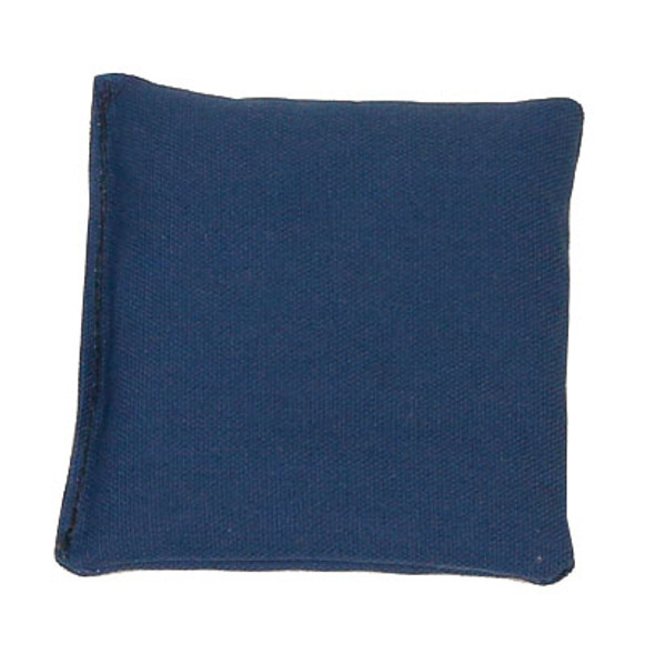 Navy Blue Square Rice Bag in Organic Cotton Fabric