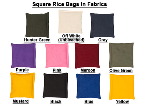 Square Rice Bag in Cotton Fabric