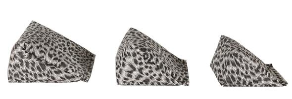 Wedge Rice Bag with Leopard Print Vinyl