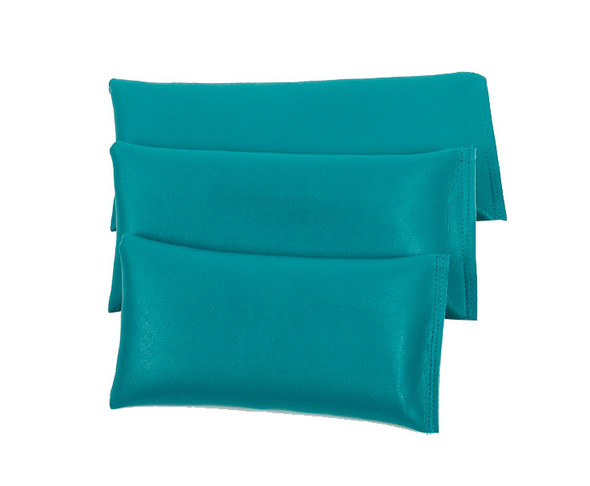 Rectangular Rice Bag with Teal Vinyl