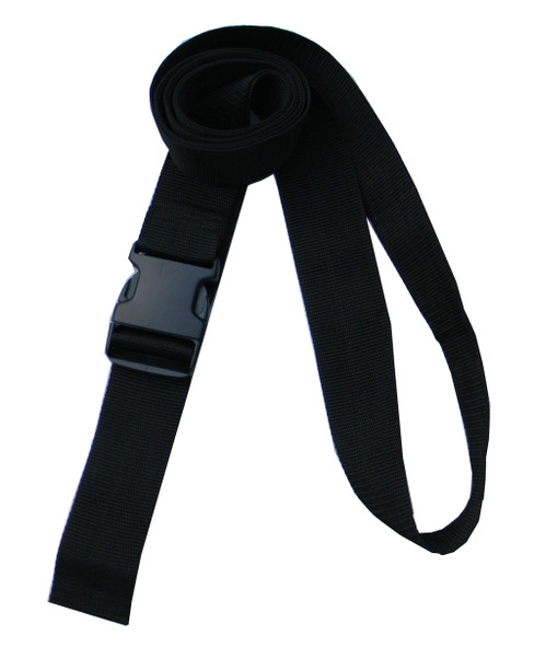 2 Inches Wide Black Traction Belt with Fast Release Buckle (8 Ft - 12 Ft Long)