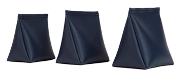 Wedge Rice Bag with Navy Blue Vinyl and Rice