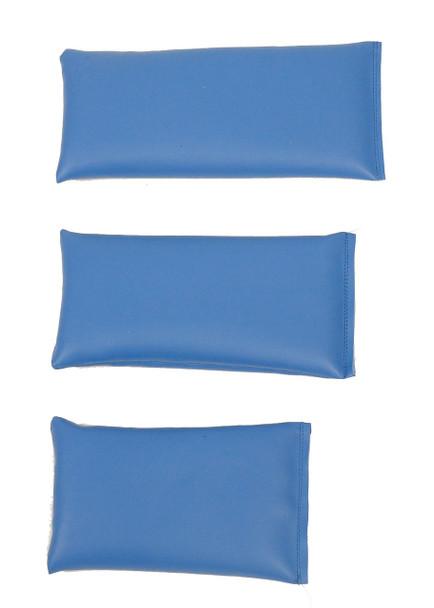 Rectangular Rice Bag with Baby Blue Vinyl