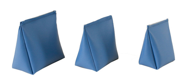 Wedge Rice Bag with Baby Blue Vinyl