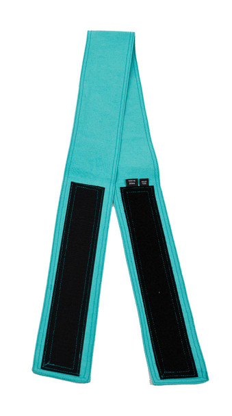 Aqua Blue Fabric Belt with Hook and Loop Closure (3 inches wide)