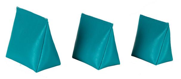 Wedge Rice Bag with Teal Vinyl