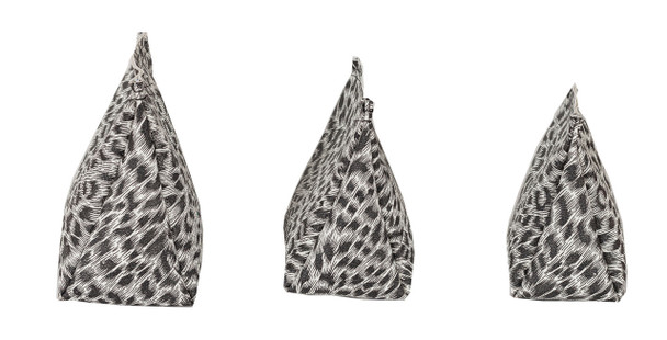 Wedge Rice Bag with Leopard Print Vinyl