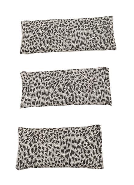 Rectangular Rice Bag with Leopard Print Vinyl