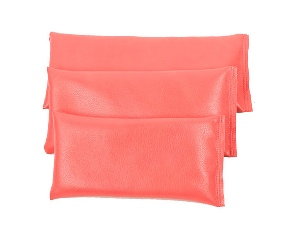 Rectangular Rice Bag with Coral Vinyl