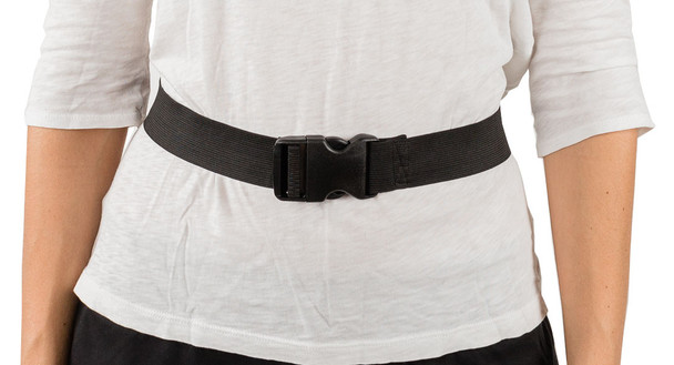 Black Elastic Straps with Buckle Closure