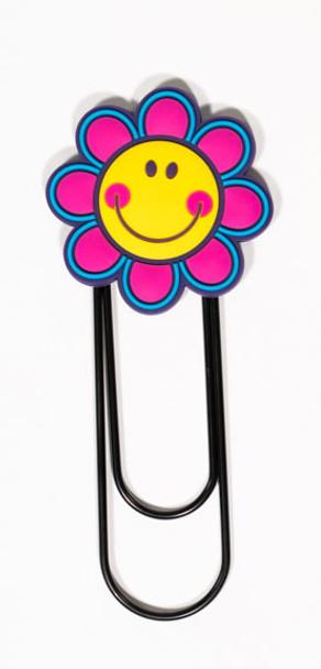 Smiley Face Flower Jumbo Paper Clip