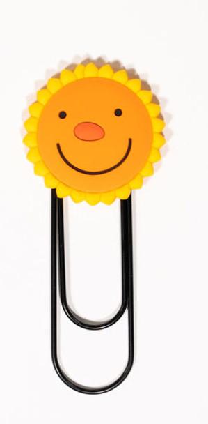 Smiley Face Sunflower Jumbo Paper Clip