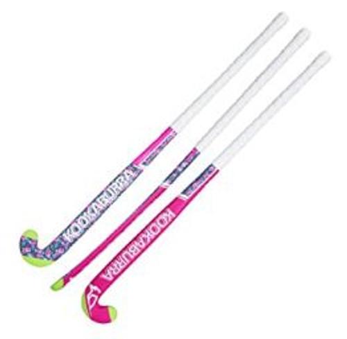 Kookabura Azalea Hockey Stick  Wooden construction with airbrush finish Fibreglass rovings for additional strength Pro contact grip