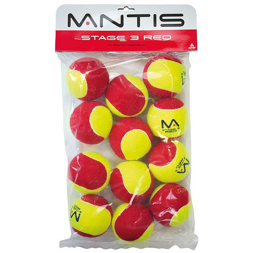 Mantis Stage 3 Red Tennis Balls Pk of 12