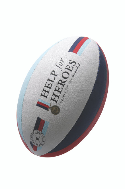 Gilbert Help For Heroes Supporter Rugby Ball SZ 5