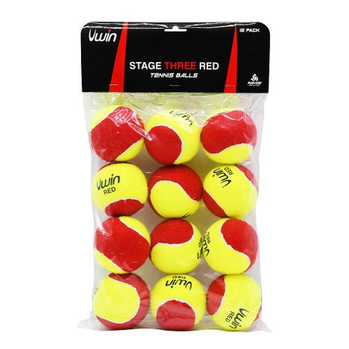 Uwin Strage 3 Red Tennis Balls. Pk of 12