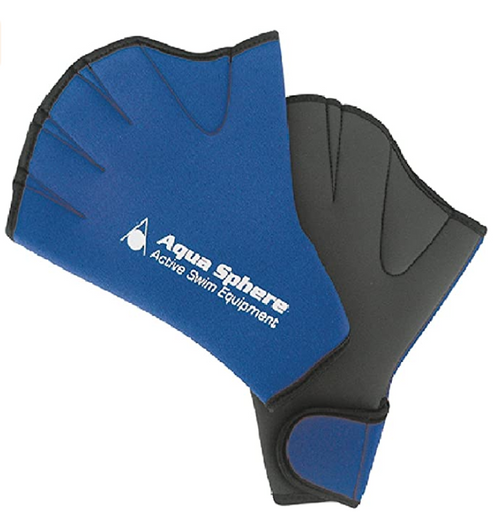 AQUASPHERE SWIM GLOVES, LARGE, PAIR