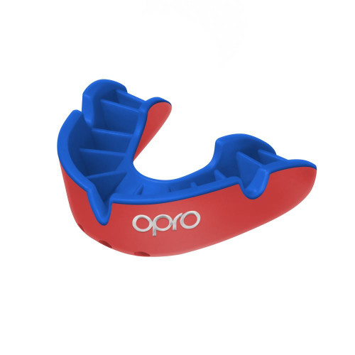 Opro Junior Silver Mouthguard Red/Blue