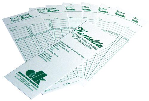 Bowls Score Cards (pack of 100)