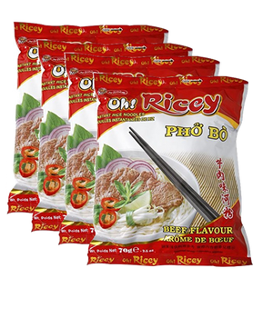 OH RICEY PHO BO BEEF NOODLE 4PK