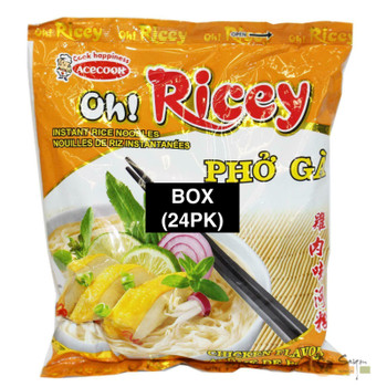 OH RICEY PHO GA CHICKEN NOODLE 70G BOX(24)