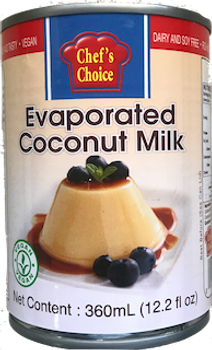 CHEF'S CHOICE EVAPORATED COCONUT MILK 360ML