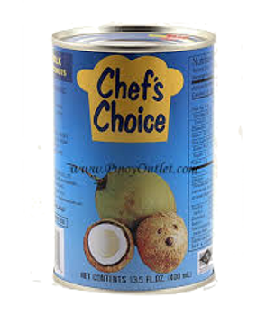 CHEFS COCONUT MILK 400ML