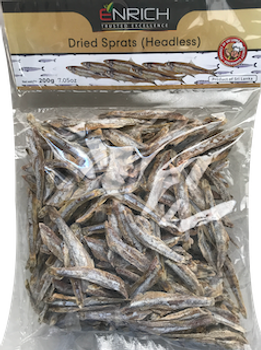 ENRICH DRIED SPRATS HEADLESS 200G