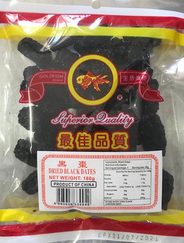GF DRIED BLACK DATES 180G