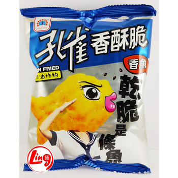 KK PEACOCK FISH SHAPE CHIPS 60G