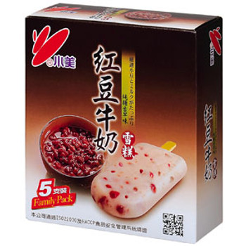 XM ICE BAR REDBEAN MILK 5PK