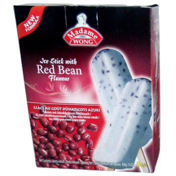 MADAME WONG ICE BAR RED BEAN 5PC BOX