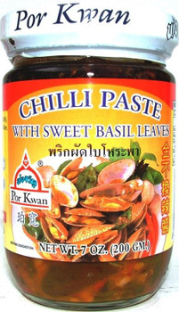 PORKWAN CHILLI PASTE WITH SWEET BASIL 200G