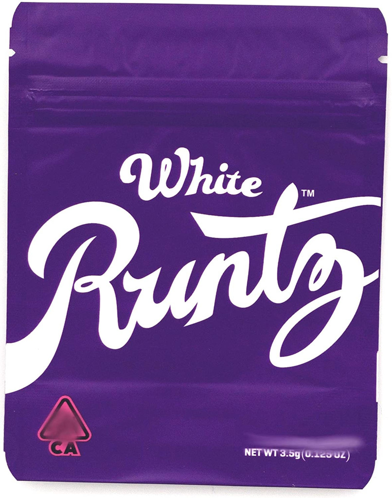 White RUNTZ by Purple Mylar Bags by 3.5 Grams Smell Proof (FREE SHIPPING)